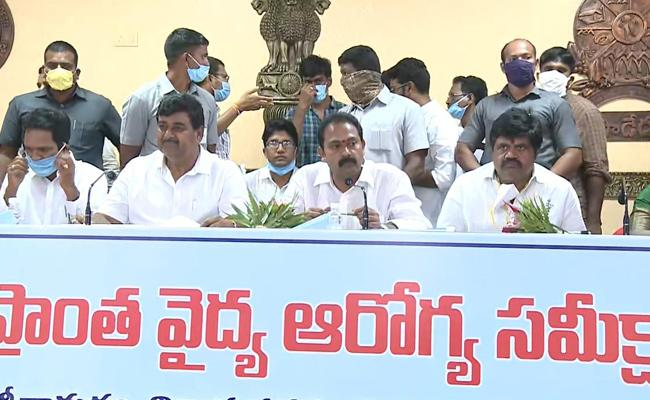 AP Ministers Who Inspected Places For Medical Colleges At Paderu - Sakshi