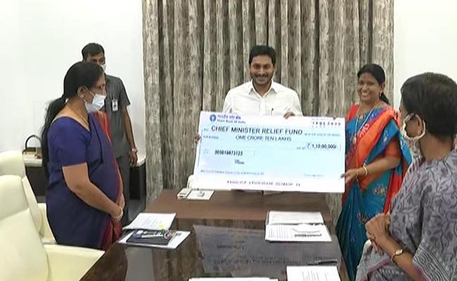 coronavirus : Huge Funds Rising To Andhra Pradesh CM Relief Fund - Sakshi