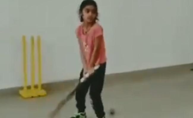 Poonam Shares A Girl Video Of MS Dhoni's Helicopter Shots Viral - Sakshi