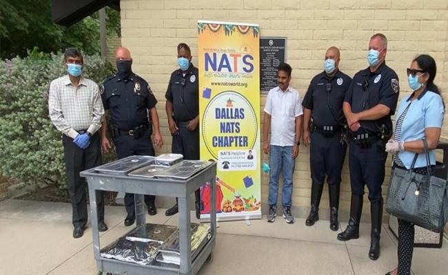 NATS Dining Facility For Irving Police Personnel Who Fight For Coronavirus - Sakshi