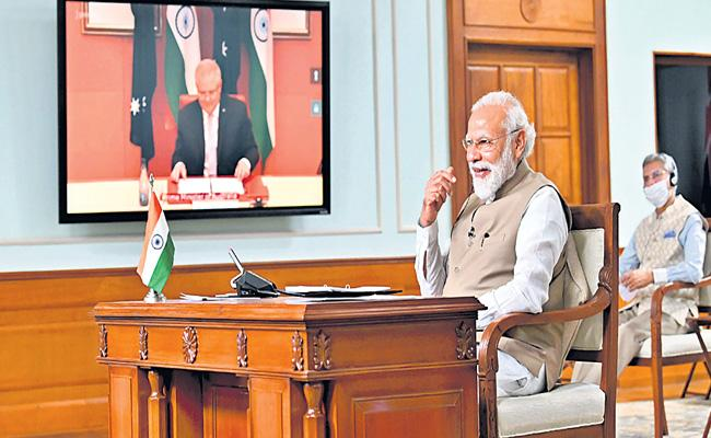 India-Australia sign 7 agreements on public reforms and defence - Sakshi