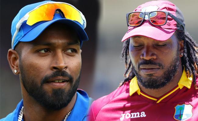 Hardik Pandya Picked Chris Gayle Over Rohit In His Gully Cricket Team - Sakshi