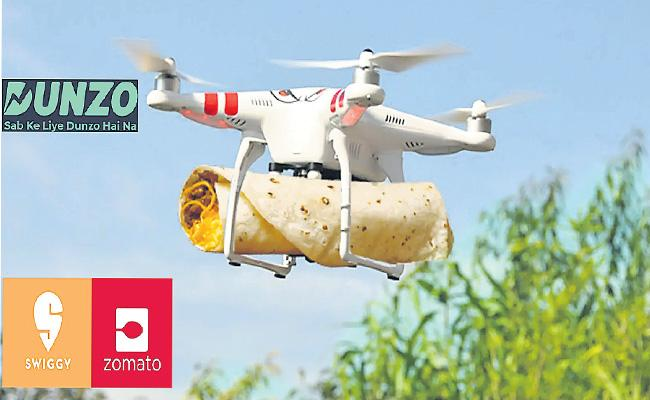 Swiggy And Zomato cleared to test long-range delivery Drones - Sakshi