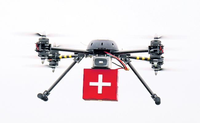 Drone experiments in Ananthapur - Sakshi