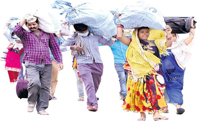 Sakshi Funday Cover Story ABout Migrant Workers