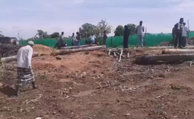 TDP Leader Illegal Mining In Government Land - Sakshi