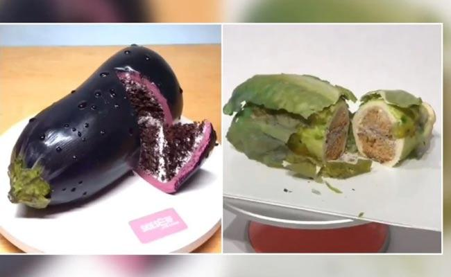 Viral Video Chef Made Cake Like Real Objects - Sakshi