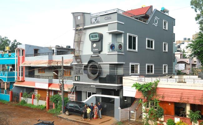 A cameraobsessed photographer from I builds a camerashaped house - Sakshi