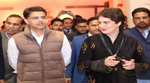 Priyanka Gandhi Discussed With Sachin Pilot Over Rajasthan Devolopments - Sakshi