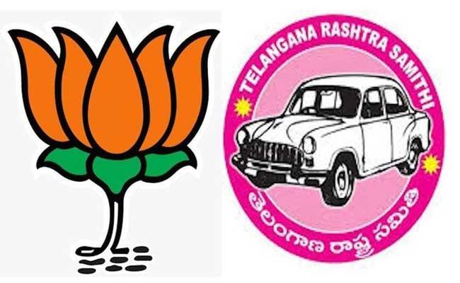 Police Arrested BJP And TRS party Leaders At Hanamkonda District - Sakshi