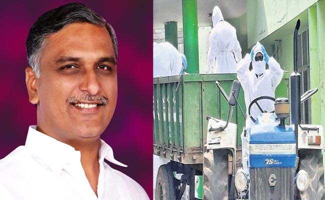 Harish Rao Appreciate Doctors Humanity In Peddapalli Over Coronavirus - Sakshi