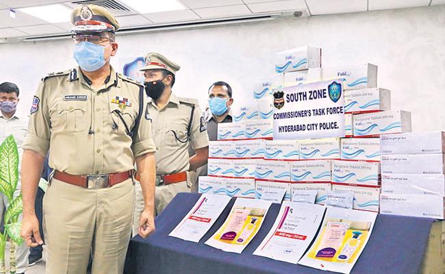 Covid 19 Medicine Black Market Gang Held in Hyderabad - Sakshi