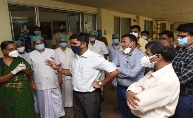 Enquiry on Tirupati Private Lab COVID 19 Tests - Sakshi