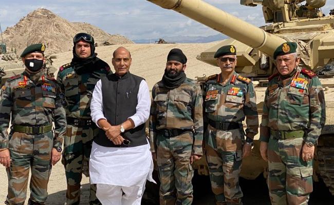 Rajnath Singh is in Ladakh and Jammu Kashmir for 2 Days Visit - Sakshi