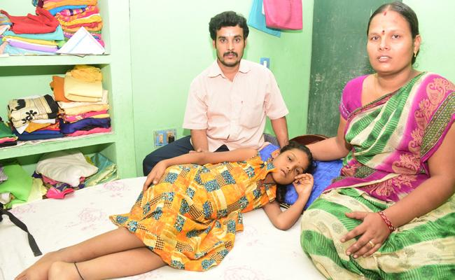 Eight Years Girl Child Suffering With Liver Disease in Tirupati - Sakshi