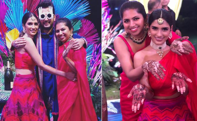Nithiin And Shalini Kandukuri Mehndi Ceremony - Sakshi