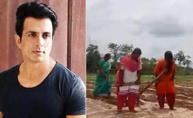 Sonu Sood Sending A Tractor To Chittoor Farmer Family - Sakshi
