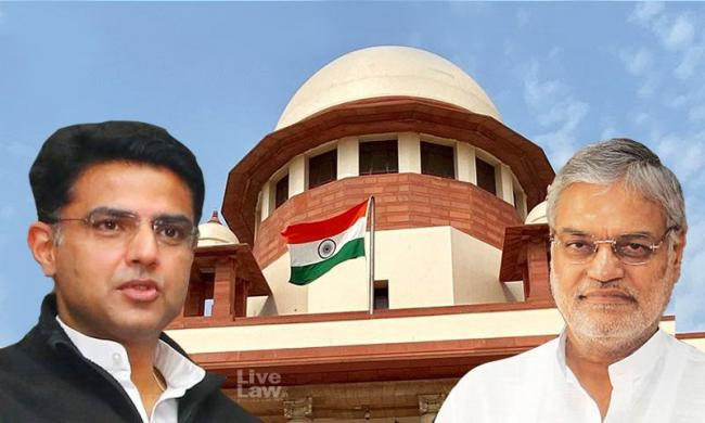 Rajasthan Speaker Drops Supreme Court Plea Against Sachin Pilot - Sakshi