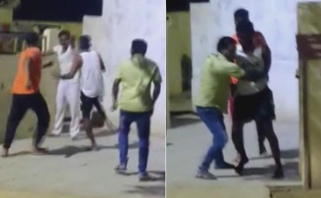 Drunk Men Attack On Person In Nalgonda And He Deceased In Hangs Self - Sakshi