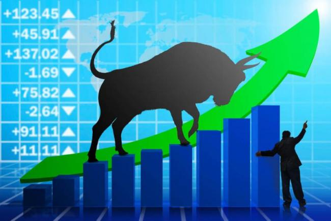 Sensex jumps 150 pts, Nifty above 11,150 - Sakshi