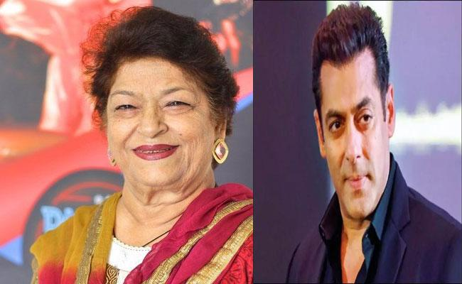Saroj Khan: Salman Khan Promised To Work With Me When I Was Getting No Work, - Sakshi