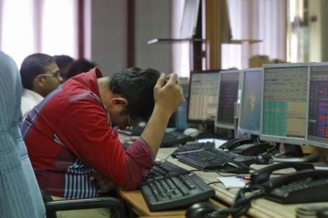 Sensex falls 100 points, Nifty below 11,100 - Sakshi
