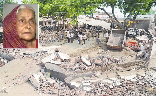 Gangster Vikas Dubey Mother Unhappy Over Her House Demolition - Sakshi