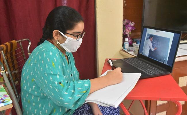 No Permission For Online Classes in Amaravati - Sakshi