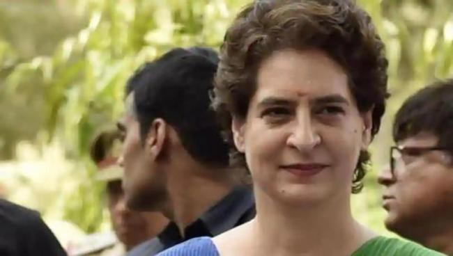 Priyanka Gandhi Accuses UP Government of Dressing up Crime Statistics - Sakshi