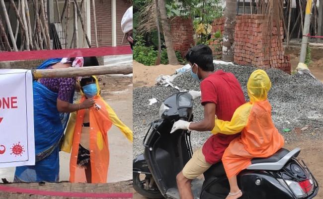 Girl Child Going to PHC For Coronavirus Tests in East Godavari - Sakshi