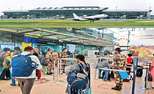 126 Domestic Services From Shamshabad Airport - Sakshi