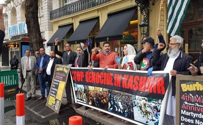 Pak Groups Hold Protest Outside Indian High Commission in UK - Sakshi
