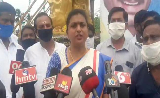 MLA Roja Challenges TDP MLAs In Chittoor - Sakshi