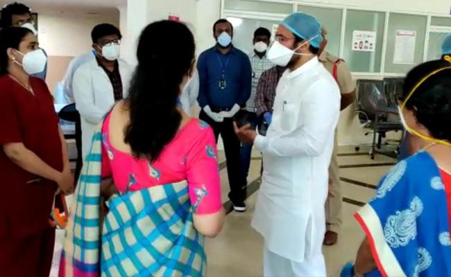 Kishan Reddy Discontent In The Facilities Of TIMS Hospital - Sakshi