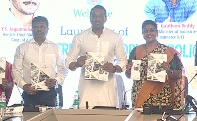 Minister Mekapati Goutham Reddy Released The New Industrial Policy - Sakshi