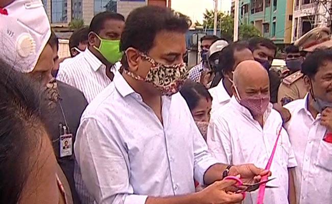 KTR Inaugurates Bairamalguda Flyover In Hyderabad - Sakshi