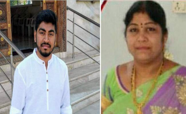 Mother And Son Deceased In Vijayawada Swarna Palace Fire Accident - Sakshi