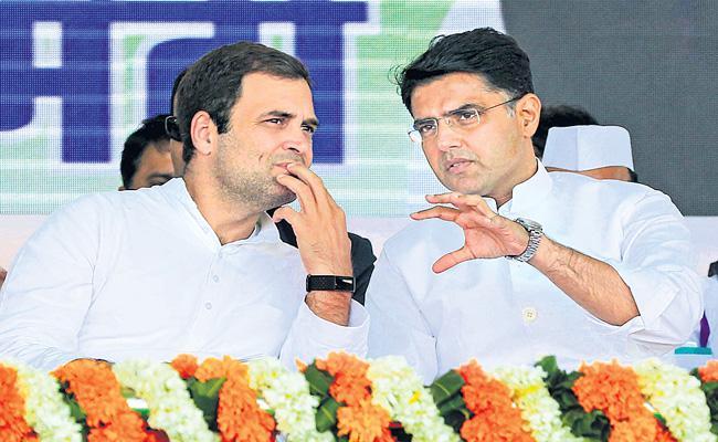Sachin Pilot Meets Rahul Gandhi and Priyanka Gandhi  - Sakshi