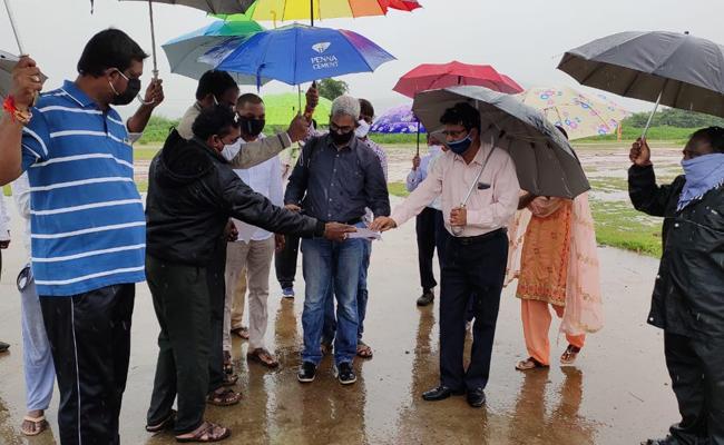 Aviation Officers Visit Airport Land in Karimnagar Basanth Nagar - Sakshi