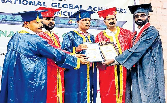 Shekar Get Doctorate For Bahujan Bhim Soldier in Sangareddy - Sakshi