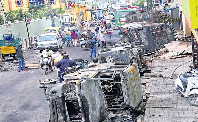 Violence grips Bengaluru over a Facebook post - Sakshi