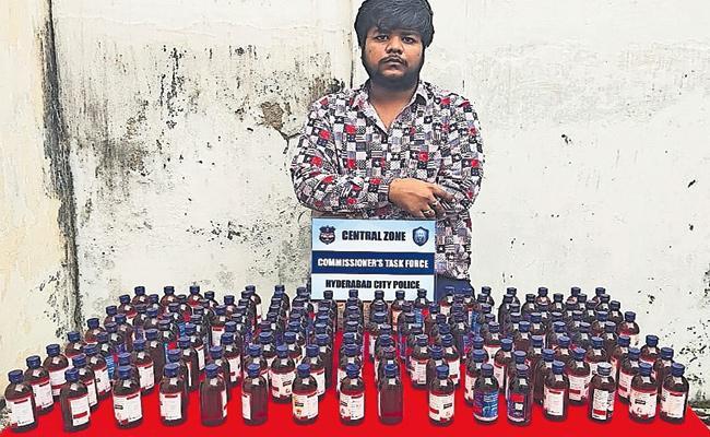 Drug Addict Use Cough Syrup in Hyderabad - Sakshi