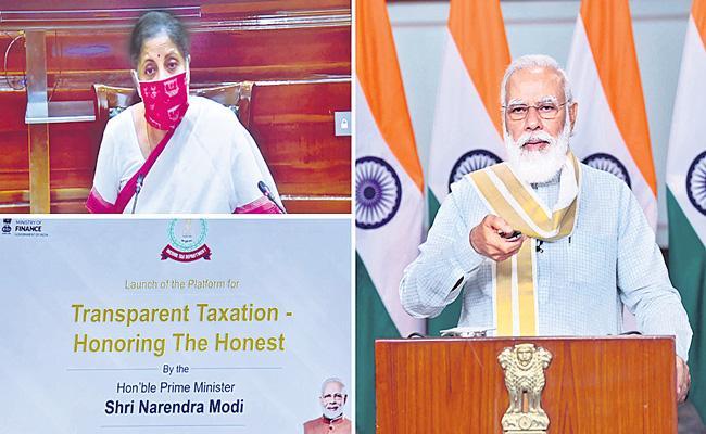 PM Narendra Modi launches Transparent Taxation platform - Sakshi