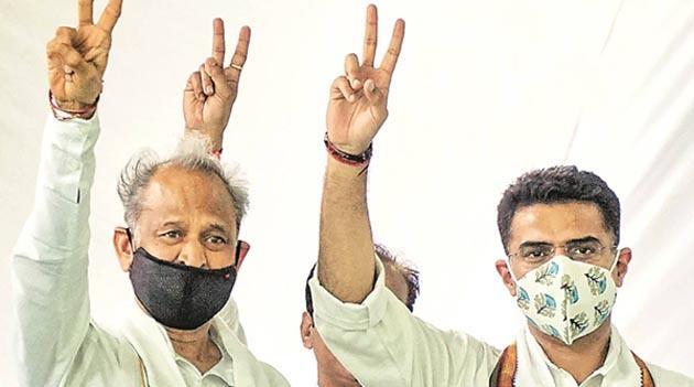Gehlot Government Wins Motion Of Confidence - Sakshi