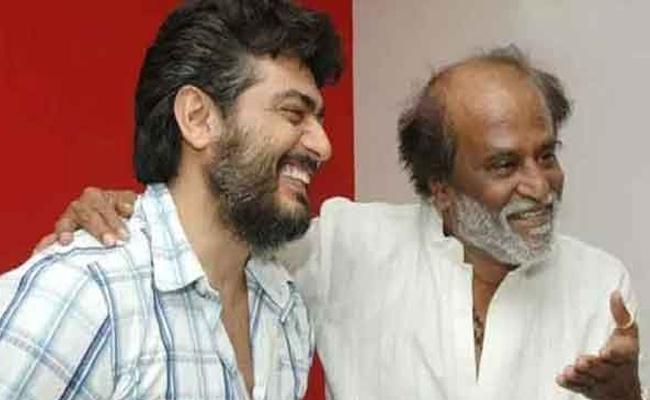 Ajith Phone Call to Rajinikanth Wishing 45 Years Complete in Film Industry - Sakshi