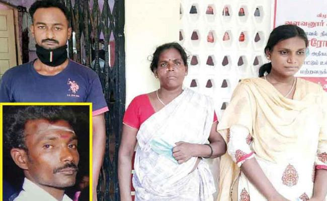 Daughter And Wife Killed Father in Tamil nadu - Sakshi