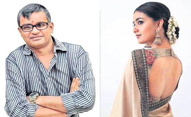 Director Selvaraghavan and Keerthy Suresh in Saani Kaayidham - Sakshi