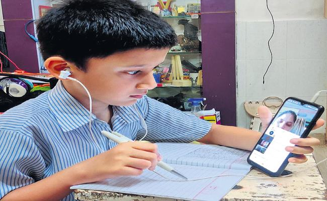 WhatsApp classes for Gurukul students - Sakshi