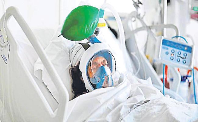 Ventilator Beds Shortage in Gandhi Hospital - Sakshi