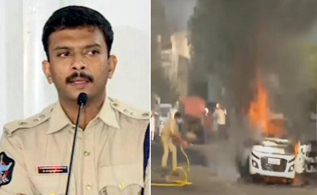 Police Arrested Car Set On Fire Accused Venugopal Reddy Vijayawada - Sakshi